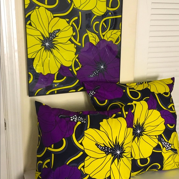Fabric Wall Art and Throw Pillow covers set
